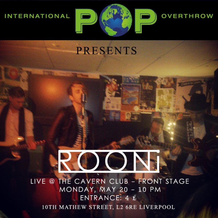 Poster Rooni IPO Cavern Liverpool
